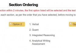 Select Section Order